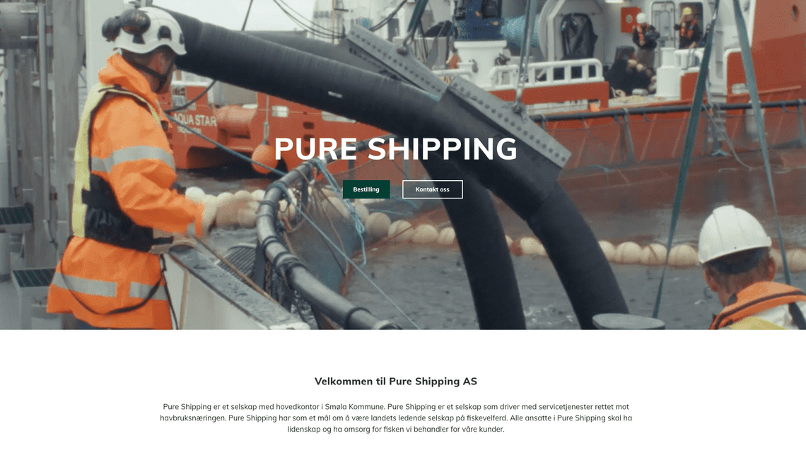 Landingpage, Pureshipping
